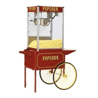 Commercial 12 oz Popcorn Machine Theater Popper Maker Paragon TP-12 w/cart
