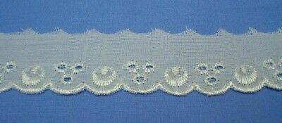 20mm Cream Cambric Polycotton Lace Edging (x 2 metres)