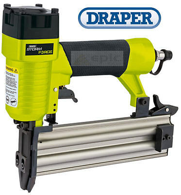 DRAPER Air Compressor Nail/Nailer Gun 18 Gauge 10mm-50mm Capacity + Case 14607
