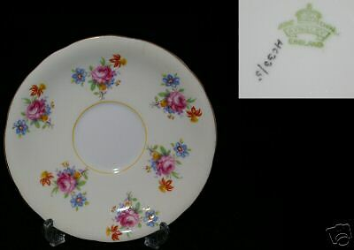AYNSLEY PASTEL YELLOW  FLORAL  REPLACEMENT SAUCERS HC33