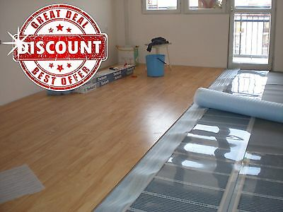 Infrared Carbon Under Laminate Floor Heating system  86-96 sq.ft.(8-9 sq.m) 230V