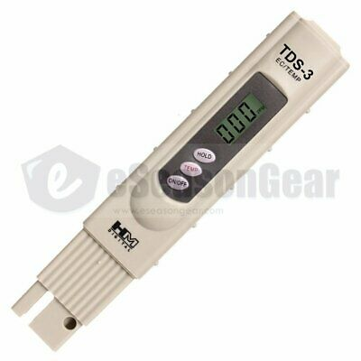 HM Digital TDS-3 + 1382 ppm Solution, Hydroponic Water Tester/Meter/Thermometer