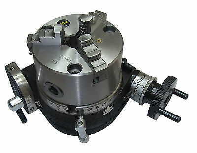 Rdgtools New 100Mm Tilting Rotary Table & 100Mm 3-Jaw Chuck Engineering Tools