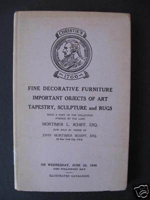 Christie's Catalog FINE DECORATIVE FURNITURE 1938 HB
