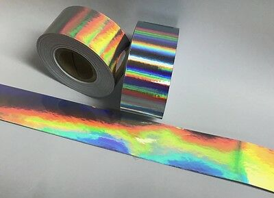 Rainbow Vinyl Tape 1 inch x 25 feet, Holographic Oil slick, Overall, Shimmer
