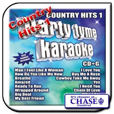 Party Tyme Karaoke Cd Cdg Cd+G Disc Backing Tracks Song Country Hits 1