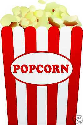Popcorn Restaurant Concession Fair Menu Decal 12""