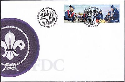 Sea Scout Pair Scout Finland Europe Cept FDC 2007
