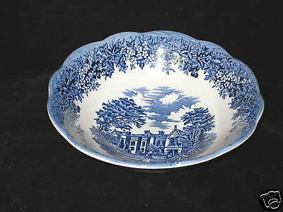 J & G MEAKIN - ROMANTIC ENGLAND BLUE - CEREAL BOWL