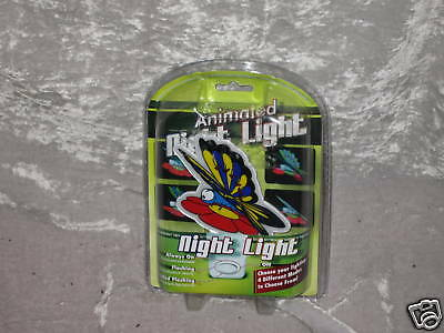 First Alert Animated Night Light Butterfly Flower  NEW!