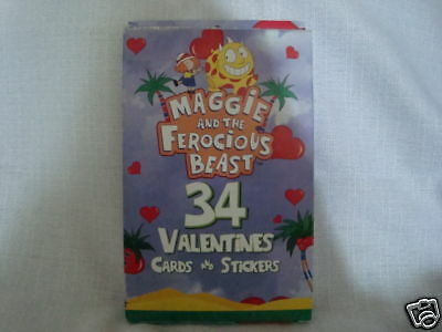 Maggie & The Ferocious Beast Valentine cards Boxed 34