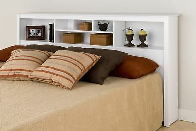 Sonoma King Size Bed Bookcase Headboard - White NEW