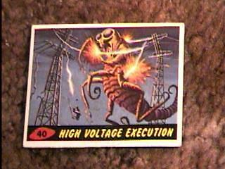 Mars Attacks #40 Trading Card 1962 Topps