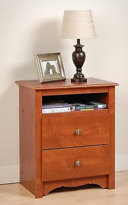 Bedroom Furniture Sonoma 2 Drawer Night Stand - Cherry