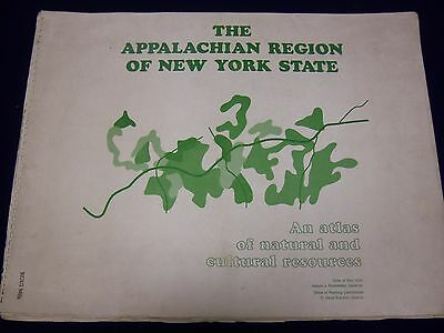 1969 Appalachian Region New York State Atlas Natural Cultural Resources - Kd 528