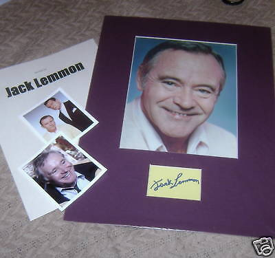 JACK LEMMON/AutogCard&PhotoMatted&Photos/REAL REAL HOT