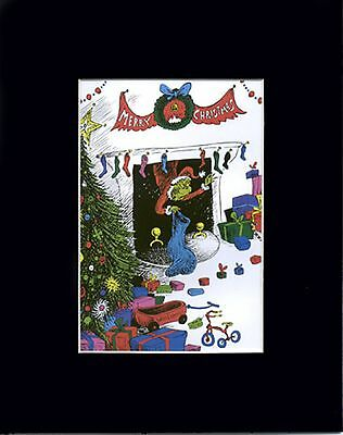 GRINCH Mat Print ~Chimney Steal Stockings/Presents