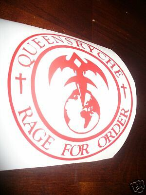 8 Inch Queensryche Rage For Order Decal In White