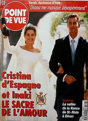 1997: Mariage Princesse CRISTINA OF SPAIN wedding!!