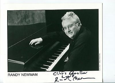 Randy Newman Toy Story Oscar Winner Composer Singer Signed Autograph Photo