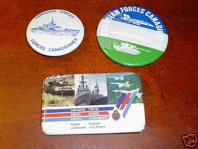 3 Canadian Armed Forces Buttons