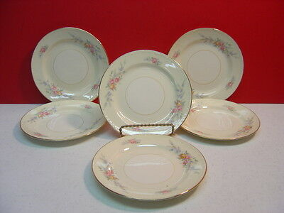 Homer Laughlin China CASHMERE Six Bread & Butter Plates