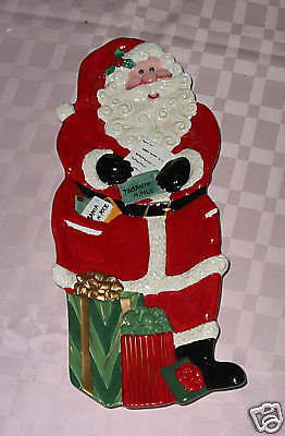 Fitz & Floyd SNACK THERAPY SANTA WITH GIFTS Server