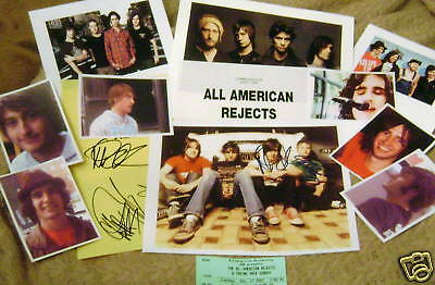 ALL AMERICAN REJECTS Autographed Photo & Photos REAL HOT