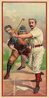 1890s Vintage Style Baseball Sports Poster - Huge! 2 ft x 4 ft - 24x48