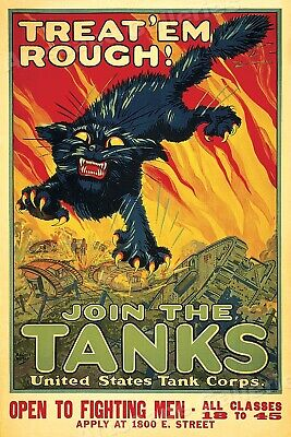 """Join the Tanks!"" World War I Tank Corp US Army Poster - 16x24"