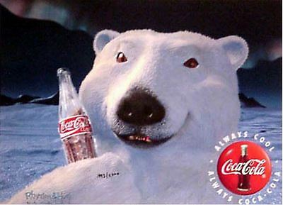 Coke Coca-Cola Polar Bear Cel Ad Advertising Art New UF Ad Avertising