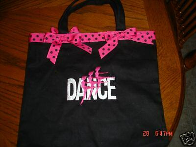 Embroideried Dance Tote Bag Personalized