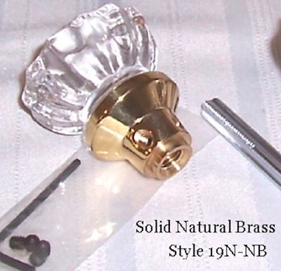 Exclusive Depression Crystal & Brass Passage Door Knobs-Guarnateed to Finset