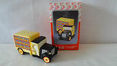 Enesco 1997 Coca Cola Co. Old Truck Salt and Pepper Shaker MIB #A1256