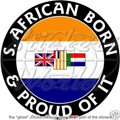 """2/"""" SOUTH AFRICA former S.African Born /& Proud 50mm Bumper Stickers Decals x4"""