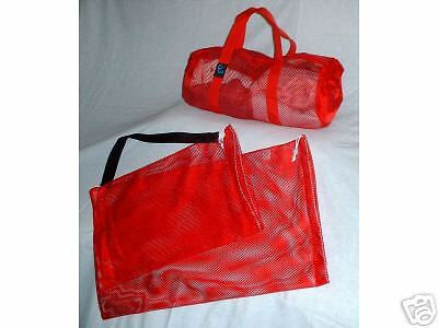 Duffle/Mesh Bag 3 Piece Set-Size Small(Red)