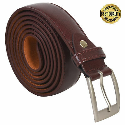 """Belt Mens Big And Tall Dress Belt New Brown Size 50"""" Genuine Leather"""