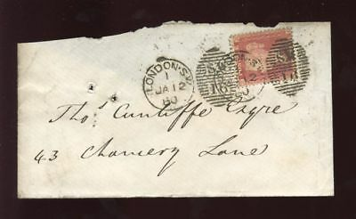 PENNY RED LCp.14 on COVER LONDON SW..TWO DUPLEXES ERROR