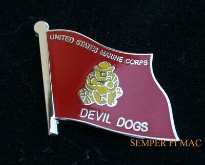 Us Marine Battle Colors Flag Bulldog Marines Usmc Pin Fmf Uss Mar Div Maw Fssg