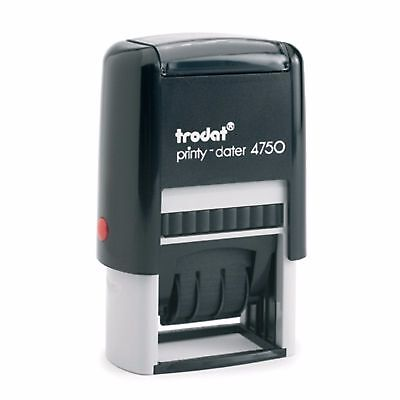 Trodat 4750 Self-Inking Date Stamp with Custom Text