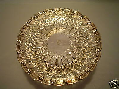 RARE 19th C. TIFFANY & CO. STERLING SILVER PIERCED TAZZA / COMPOTE