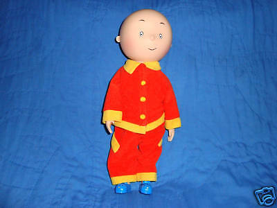 "Caillou Vinyl 12"" Doll with Clothes 1999 Irwin Toy"