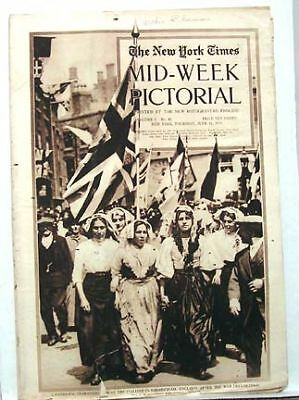 1915 NY TIMES Mid-Week Pictorial  WORLD WAR I FLAG DAY