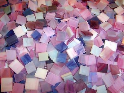 """500 1/2"""" Shades of Purple Stained Glass Mosaic Tiles"""