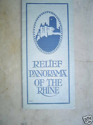 GREAT Relief Panorama of The Rhine - 1930's era - L@@K