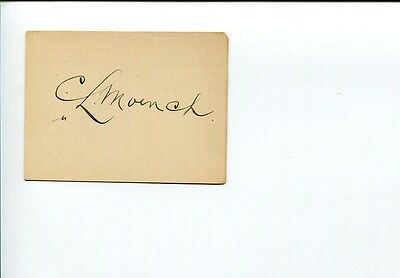 Bishop Charles L. Moench Moravian Church Philadelphia Clergy Signed Autograph