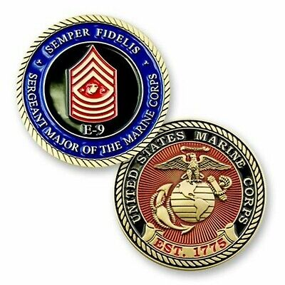 "Sergeant Major Of The Marine Corps E-9  1.75"" Challenge Coin"