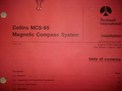 Collins MCS-65 Magnetic Compass System Install  Manual