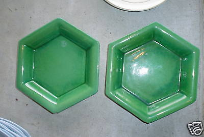 Vintage Lot of 2 Unique Pottery Small Plates LOOK