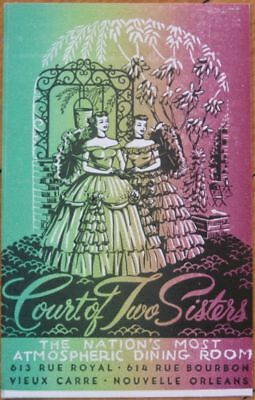 1940 AD Postcard: Court of Two Sisters- New Orleans, LA